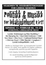 Politikk og musikk for lokalsjukehuset - 13.2.2011